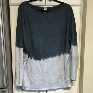 Go Couture Dip Dye Boatneck Oversize Top